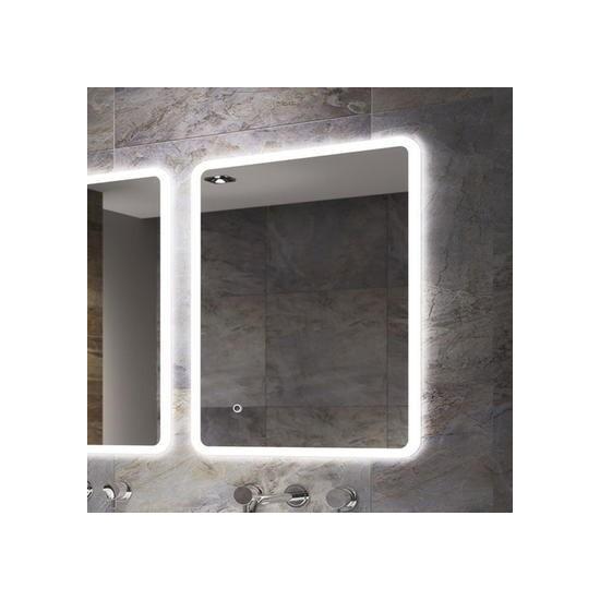 Ultra Slim Illuminated Bathroom Mirror - 800 x 600mm - Sensio Libra