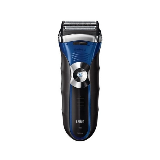 Braun Series 3 380s Wet and Dry Shaver - Blue & Silver
