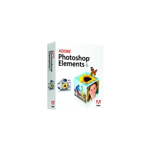 Photo of Adobe Photoshop Elements - ( V. 6 ) - Complete Package - 1 User - DVD - Mac - International English Software