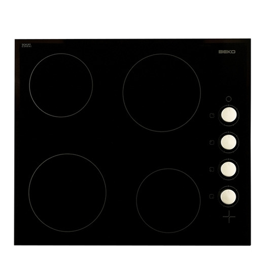 BEKO HIC64102 Built-in Ceramic Hob - Black