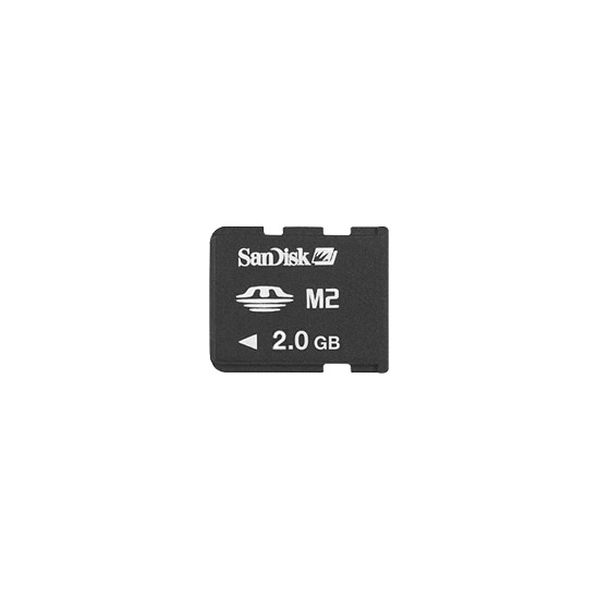 SanDisk - Flash memory card ( M2 to Memory Stick Duo adapter included ) - 2 GB - Memory Stick Micro (M2)
