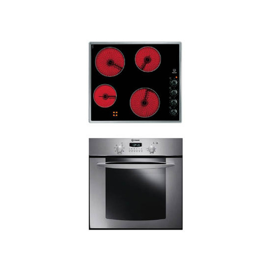 Indesit FIE76KCA + Electric Hob
