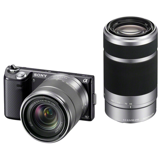 Sony Alpha NEX-5NY with 18-55mm and 55-210mm lenses