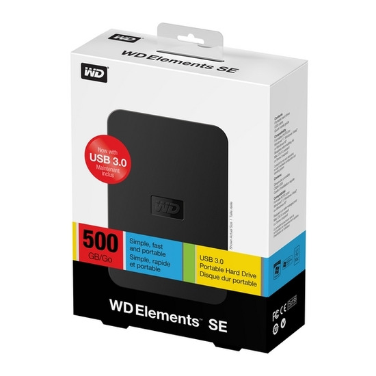 WD Elements SE Portable 500GB