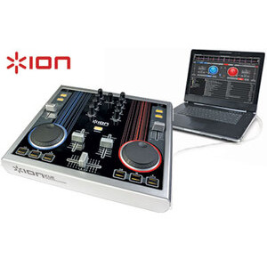 Photo of Desktop DJ Mixing Station Turntables and Mixing Deck
