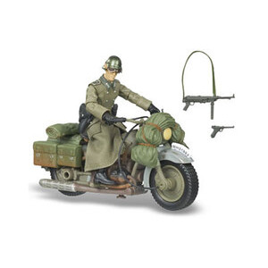 Photo of Raiders Of The Lost Ark - German Soldier With Motorcycle Toy