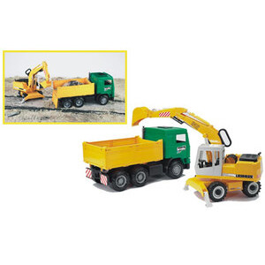 Photo of Construction Truck and Liebherr Excavator Toy
