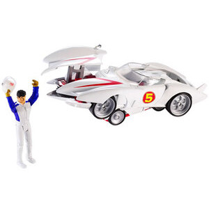 Photo of Hot Wheels Speed Racer - Deluxe Mach 5 & Speed Racer Figure Toy