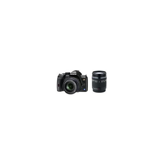 Olympus E-520 with 14-42mm and 40-150mm lenses