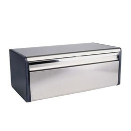 Brabantia Fall Front Bread Bin in Brilliant Steel Reviews