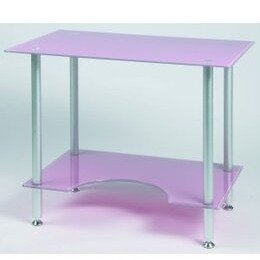 Jual PC005P - Laptop or Small Computer Desk Pink Glass Reviews