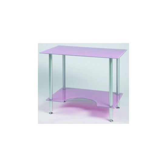 Jual PC005P - Laptop or Small Computer Desk Pink Glass