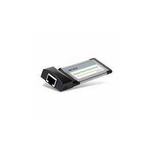 Photo of Belkin Gigabit Ethernet ExpressCard - Network Adapter - ExpressCard/34 - EN, Fast EN, Gigabit EN - 10BASE-T, 100BASE-TX, 1000BASE-T Network Card