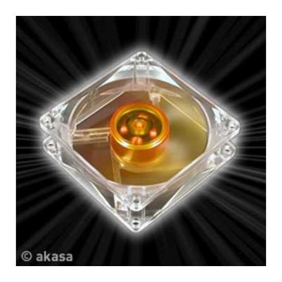 Akasa 8cm Amber UltraQuiet & LongLife Case Fan 3Pi