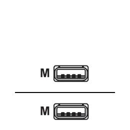 Videk - USB cable - 4 PIN USB Type A (M) - 4 PIN USB Type A (M) - 3 m ( USB / Hi-Speed USB ) Reviews