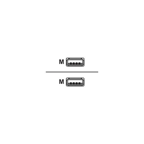 Videk - USB cable - 4 PIN USB Type A (M) - 4 PIN USB Type A (M) - 3 m ( USB / Hi-Speed USB )