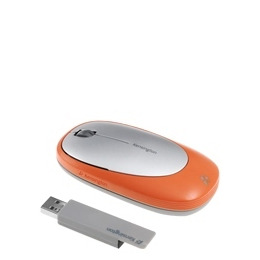 Kensington Ci75m Wireless Notebook Mouse - Mouse - optical - wireless, wired - USB, RF - USB wireless receiver - silver, orange Reviews