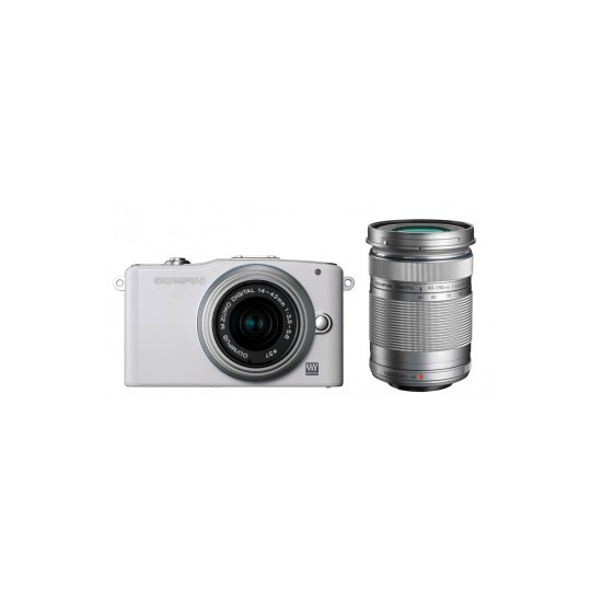 Olympus PEN E-PM1 with 14-42mm and 40-150mm lenses
