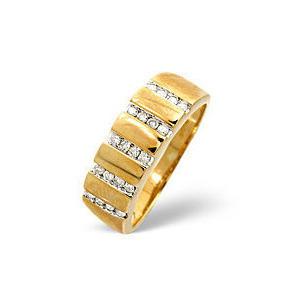 Photo of 1/2 Eternity Ring 0.25CT Diamond 9K Yellow Gold Jewellery Woman