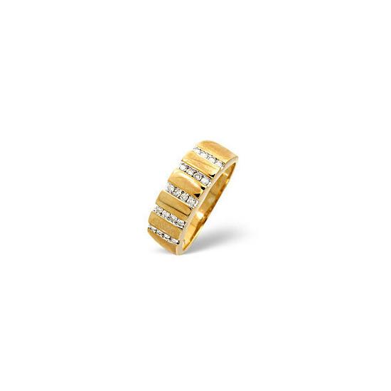 1/2 Eternity Ring 0.25CT Diamond 9K Yellow Gold