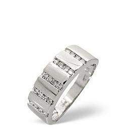 1/2 Eternity Ring 0.25CT Diamond 9K White Gold Reviews
