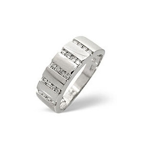 Photo of 1/2 Eternity Ring 0.25CT Diamond 9K White Gold Jewellery Woman