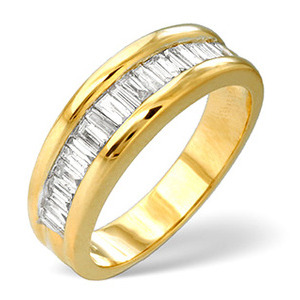 Photo of 1/2 Eternity Ring 1.00CT Diamond 9K Yellow Gold Jewellery Woman