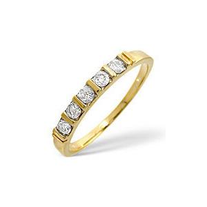 Photo of 1/2 Eternity Ring 0.24CT Diamond 9K Yellow Gold Jewellery Woman