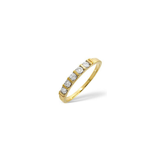 1/2 Eternity Ring 0.24CT Diamond 9K Yellow Gold