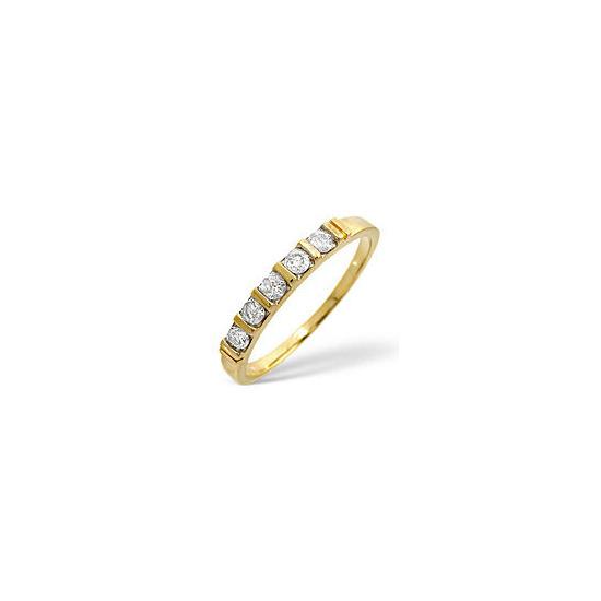 1/2 Eternity Ring 0.24CT Diamond 9K Yellow Gold