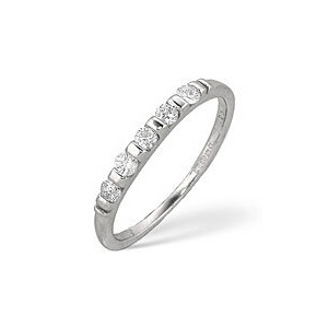 Photo of 1/2 Eternity Ring 0.24CT Diamond 9K White Gold Jewellery Woman