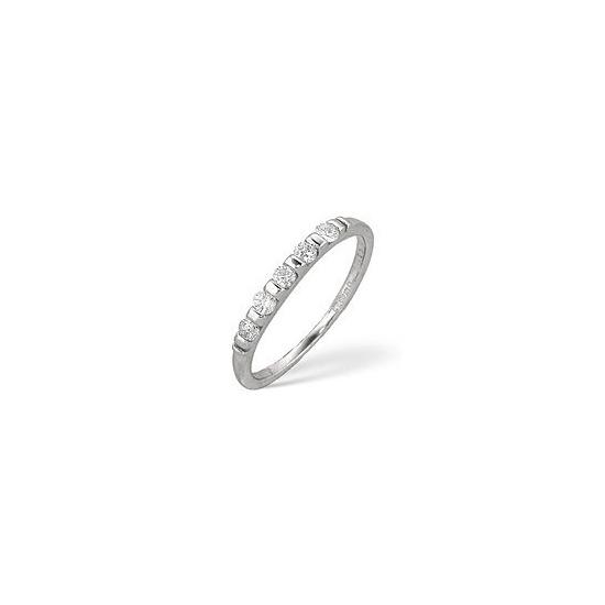 1/2 Eternity Ring 0.24CT Diamond 9K White Gold