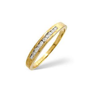 Photo of 1/2 Eternity Ring 0.15CT Diamond 9K Yellow Gold Jewellery Woman