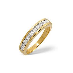 Photo of 1/2 Eternity Ring 0.50CT Diamond 9K Yellow Gold Jewellery Woman