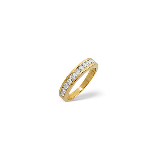 1/2 Eternity Ring 0.50CT Diamond 9K Yellow Gold
