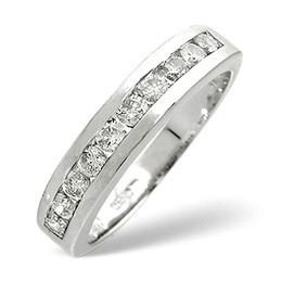 1/2 Eternity Ring 0.50CT Diamond 9K White Gold Reviews