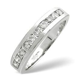 1/2 Eternity Ring 0.50CT Diamond 9K White Gold Reviews
