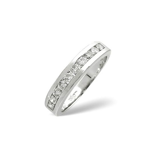 1/2 Eternity Ring 0.50CT Diamond 9K White Gold