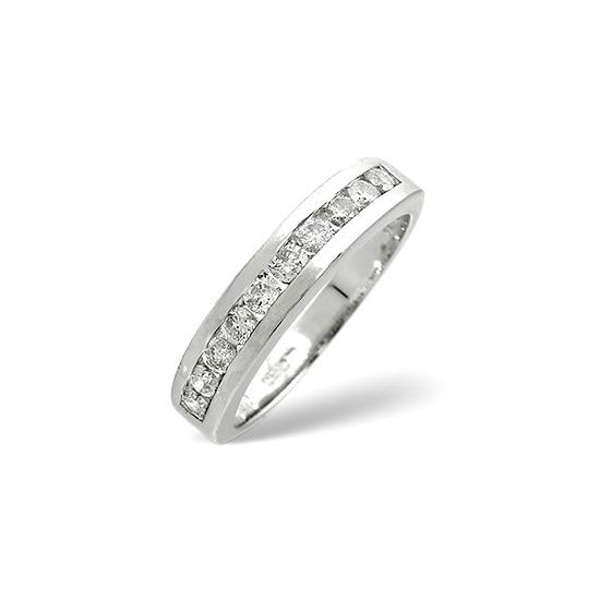 1/2 Eternity Ring 0.50CT Diamond 9K White Gold