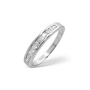 Photo of 1/2 Eternity Ring 0.33CT Diamond 9K White Gold Jewellery Woman