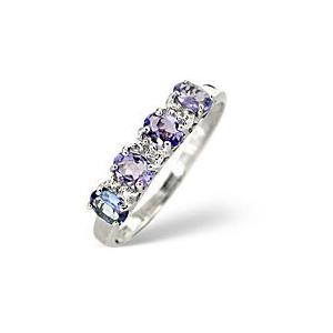 Photo of Tanzanite &  Diamond Ring 9K White Gold Jewellery Woman