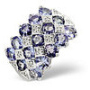 Photo of Tanzanite & 0.06CT Diamond Ring 9K White Gold Jewellery Woman