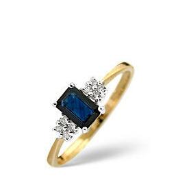 Sapphire & 0.06CT Diamond Ring 9K Yellow Gold Reviews