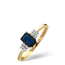 Sapphire & 0.06CT Diamond Ring 9K Yellow Gold Reviews