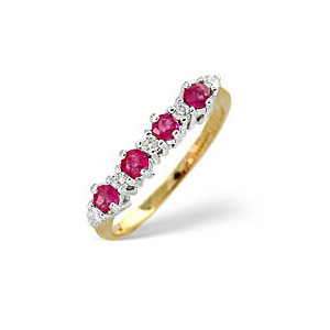 Photo of The Diamond Store Ruby 0 15CT Diamond Ring 9K Yellow Gold Jewellery Woman