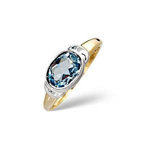 Photo of Topaz Ring Blue 9K Yellow Gold Jewellery Woman