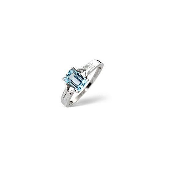 Blue Topaz Ring  Sky Blue topaz 9K White Gold