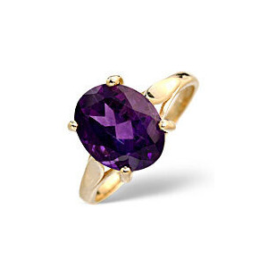 Photo of Amethyst Ring  Amethyst 9K Yellow Gold Jewellery Woman