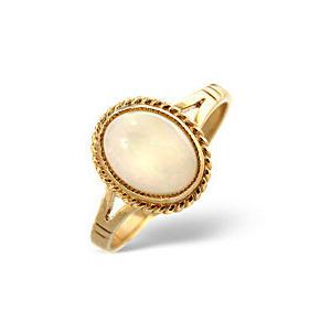 Photo of Opal Ring  Opal 9K Yellow Gold Jewellery Woman