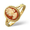Photo of Cameo Ring  Cameo 9K Yellow Gold Jewellery Woman